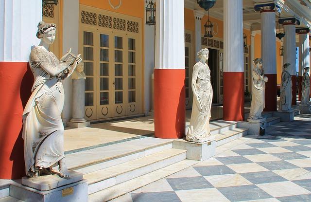 Дворец Ахиллион - достопримечательности Корфу, Греция