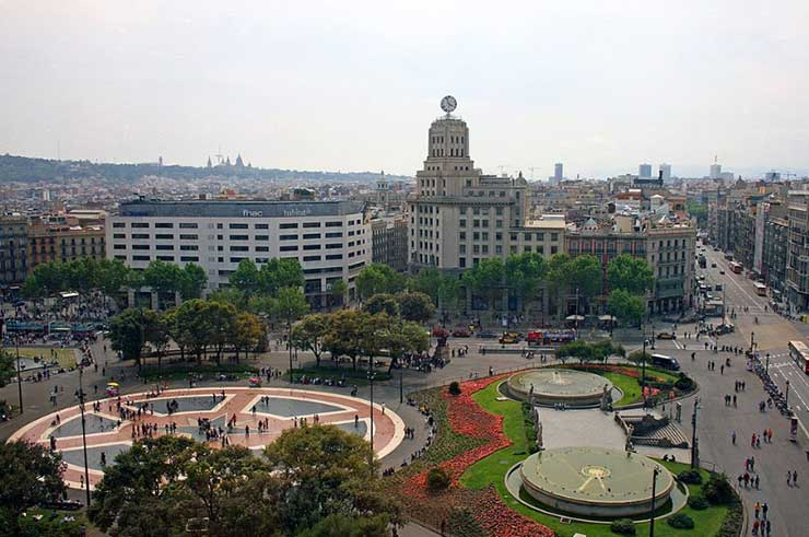 Площадь Каталонии, Барселона, Испания