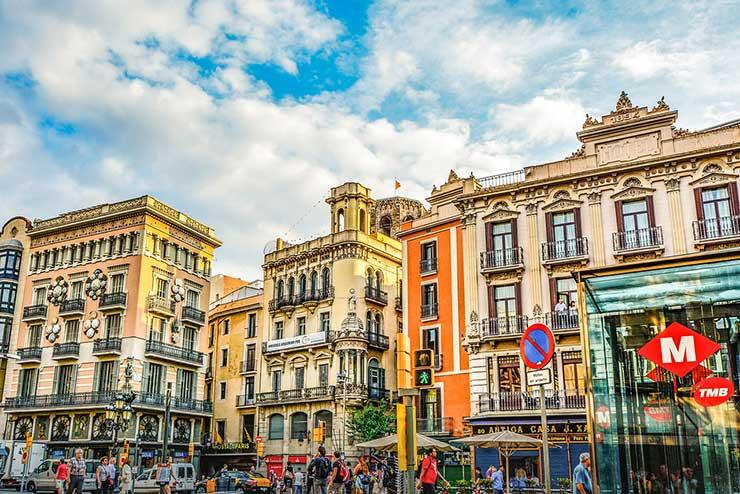 Улица Рамбла, Барселона, Испания - La Rambla