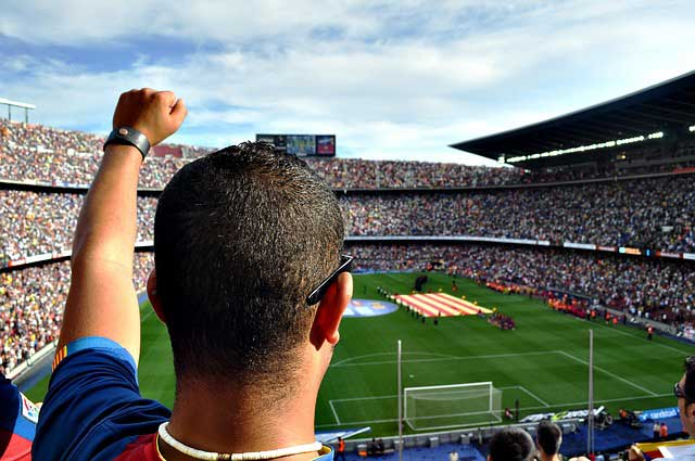 Стадион Камп Ноу, Барселона, Испания, футбол