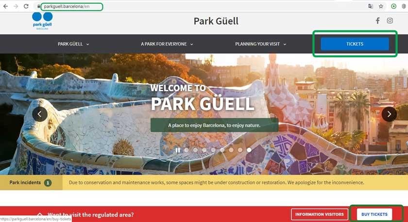 Как купить билеты в Парк Гуэль на официальном сайте онлайн