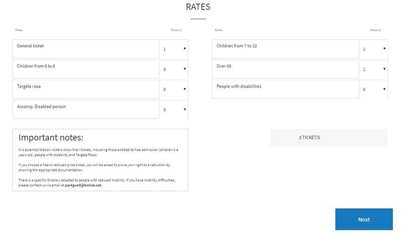 Инструкция: как купить билеты в парк Гуэль онлайн на официальном сайте